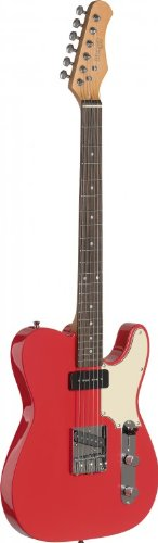 Custom Guitar Gibson Red - Stagg SET-CST FRD Vintage T Series Custom Electric Guitar with Solid Alder Body - Fiesta Red