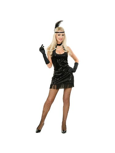 20's Flapper Adult Costume White - (Flapper Adult Costume)