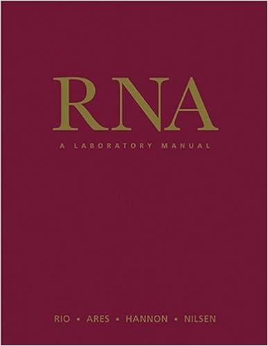 RNA: A Laboratory Manual