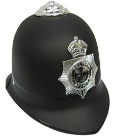 Jacobson Hat Company Child's Black Plastic British Bobby Hat (Policeman Costumes)