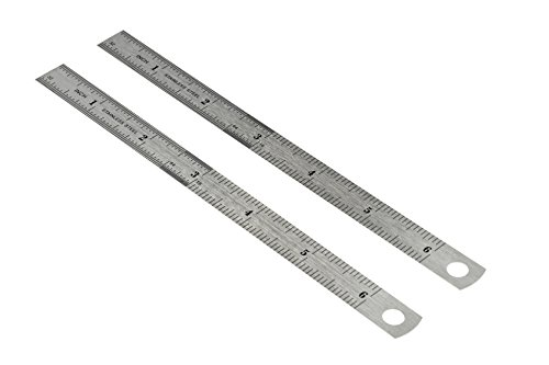 "SE 6"" Double-Sided Rulers in Both SAE/Metric (2-Pack)"