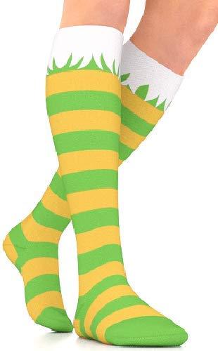 Go2Socks GO2 Holiday Compression Socks for Women Men Nurses Runners 15-20 mmHg (Medium) - Medical Stocking Maternity Travel - Best Performance Recovery Circulation Stamina (Elf, Medium) -