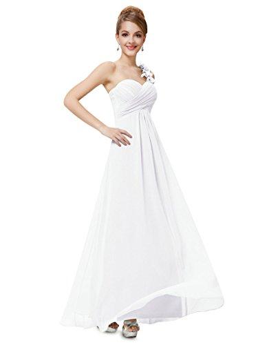 vimans Damen Lange One Schulter Plissee Chiffon Ball Abend Brautjungfer Kleider elfenbeinfarben 5gpKJx2Zs