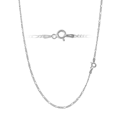 2mm Figaro Link Chain (Sterling Silver Figaro Chain link Necklace Italian 2mm 18 inch)