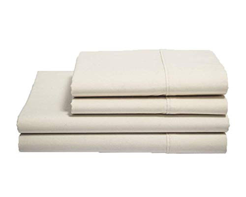 Organics and More Naturesoft Organic Cotton 230 TC Percale Sheet Sets - King - Natural (Best Reasonably Priced Mattress)
