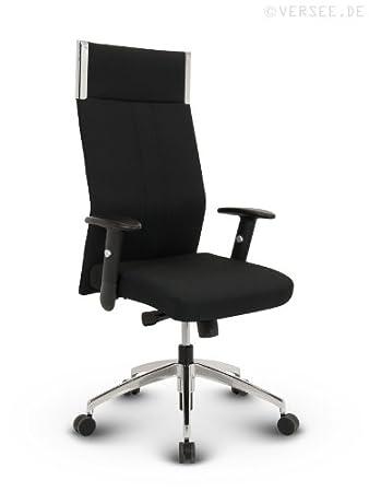 Chefsessel stoff  Versee Stoff Design Drehstuhl Chefsessel Bürostuhl Black-Line ...