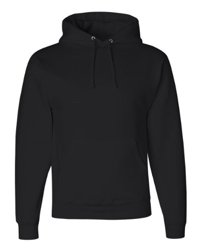 Jerzees Super Sweats NuBlend Fleece Pullover Hood, Small, Black