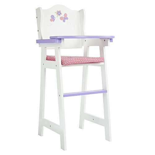- Olivia's Little World - Princess Baby Doll Furniture - Baby High Chair (White) | Wooden 18 inch Doll Furniture