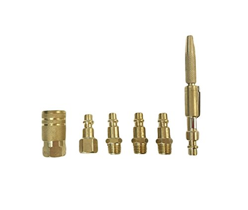 Brass Coupler Fittings Air Compressor Quick Release and Couplers Set with Pocket Air Gun Attachment