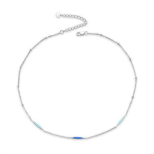 Sterling Silver Tiny Bead Choker Simple Necklace Dainty Jewelry for Women Teen Girls (Bead Choker - Necklace Bead Choker Silver Sterling