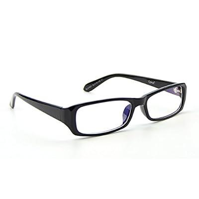 Cyxus Blue Light Filter Glasses [Transparent Lens], Better Sleep Anti Eyestrain Headache, Computer Cell Phone Reading Eyewear (Rectangular Black Frame)