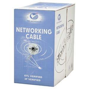 Arrowmounts AM-Cat6-Bulk-001WT 1000' Cat 6 Cat6 Stranded Wire Bulk Ethernet LAN Network Cable White Cm
