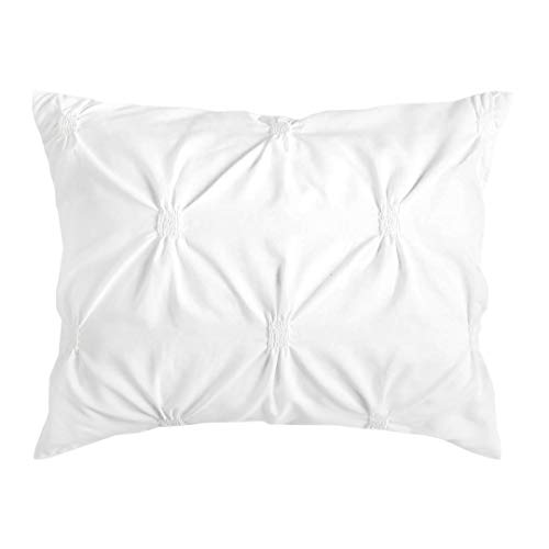 Dormify Loft White Standard Pillow Sham, Ultra Soft Cotton Sham, for Fashion-Minded and Small-Space Decorating