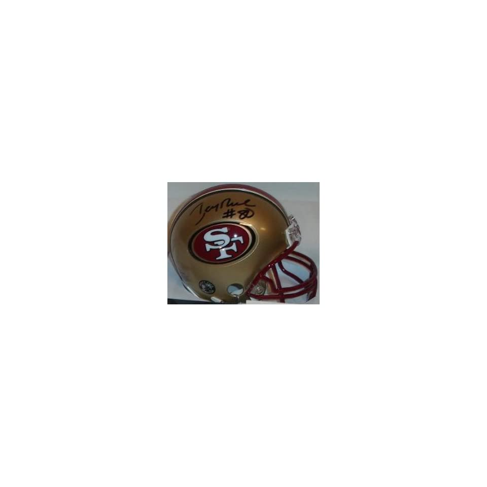 Jerry Rice Signed San Francisco 49ers Riddell Replica Mini Helmet