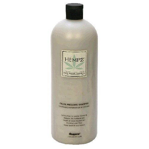 Hempz Pure Herbal Extracts Color Preserve Shampoo, 33.8 fl oz (1l)