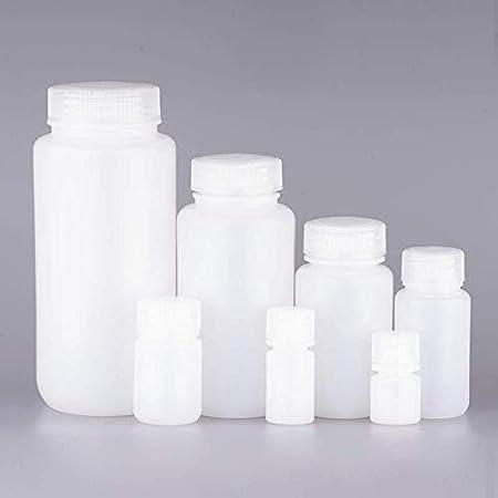 Pack of 6 32oz//1000mL HDPE Natural color Wide-Mouth Leakproof LAB Sample reagent Bottles