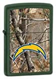 Zippo Lighter - NFL/Realtree Chargers