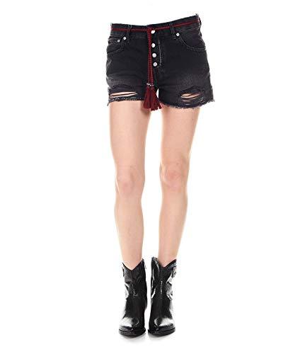 (Pepe Jeans Women's Pl800851000 Black Cotton Shorts)