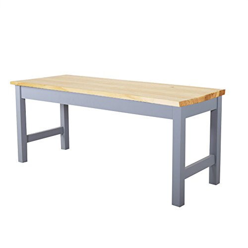 WamieHomy Sturdy Garden Solid Pine Dining Table Bench -Wooden Kitchen Dining Room Chair Bench Hallway Doorway Leisure…
