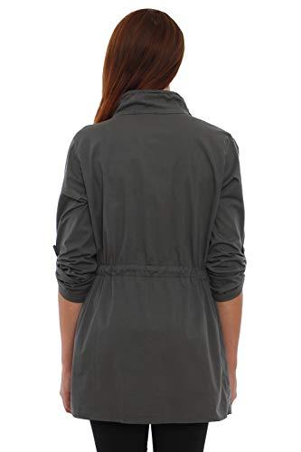 4tuality® Streetwear Blazer scuro Grigio Xxxl Military S Taglia 1qvBr7x1
