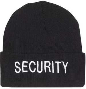 Rothco Embroidered Watch Cap, Security Black