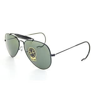 Ray Ban Outdoorsman RB3030 L9500 Black/Green Classic 58mm Sunglasses