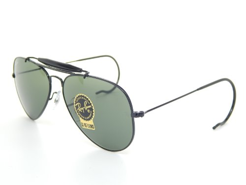 Ray Ban Outdoorsman RB3030 L9500 Black/Green Classic 58mm - Ray Outdoorsman Ban Black