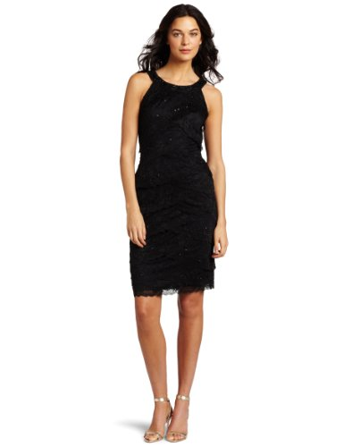 Marina Women's Crescent Lace Party Dress