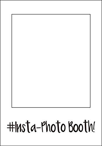 1pcs 18.90x 26.77 Insta Paper Photo Booth Props Picture Selfie Frame -