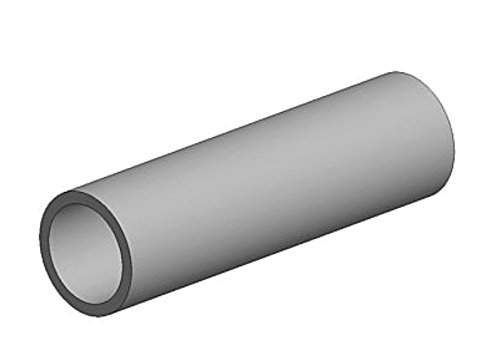 """K&S Metal Round Tube 7/32"""" D X 12"""" L Aluminum Carded"""
