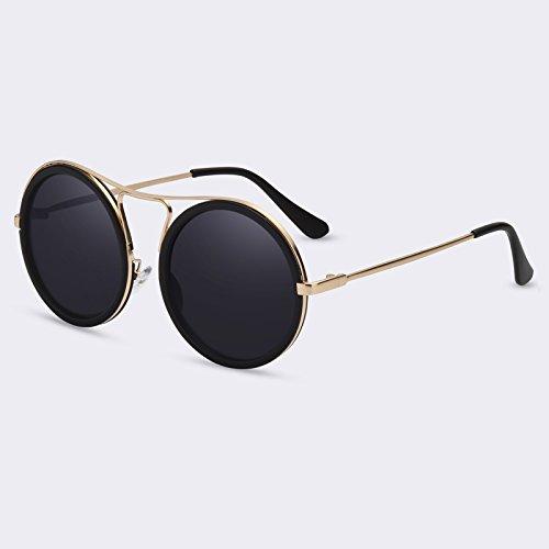 de degradado sol reflectora gafas Mujeres de C01Gray sol Mujeres redonda UV400 mujer sombras Gafas C03gris Vintage TIANLIANG04 1ZqgER