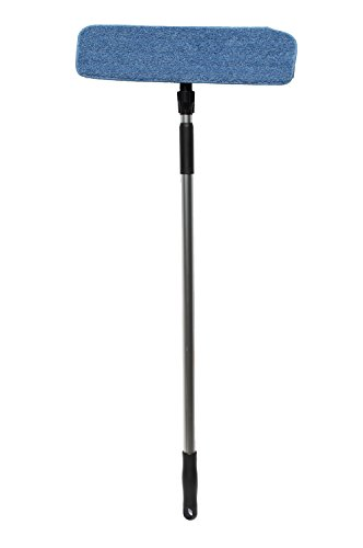 Nine Forty | Industrial | Commercial Microfiber Hardwood Floor Dust Mop with Handle for Floor Cleaning Set | 18'' Flat Frame Mop Head Pad by Nine Forty (Image #2)