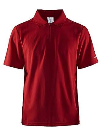Craft Men's Zip Polo Shirt Modern Zipper Style, Dry Fit for Golf, Workout T
