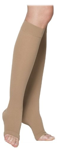 - SIGVARIS Unisex COTTON 230 Open Toe Calf Compression Socks 30-40mmHg