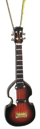 Miniature Hoffner Bass Guitar Christmas Ornament Brown Burst 4