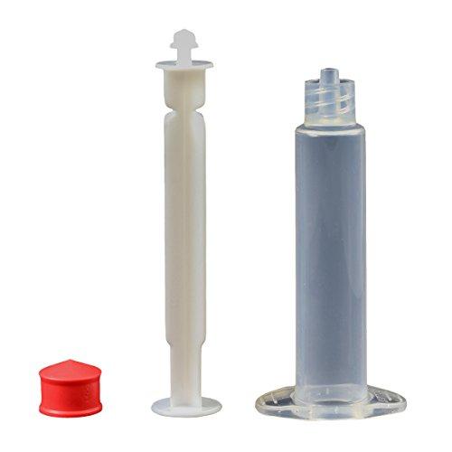 Jensen Global JG5M-40-SF 5 cc Manual Luer Lock Unassembled Syringes Premium Clear Barrel Silicone Free Box of 40