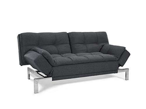 Serta SCBOCS3U4CC Boca Sofa, Charcoal Grey