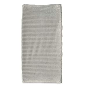 Boppy Changing Pad Cover, Gray Ribbed Minky Fabric