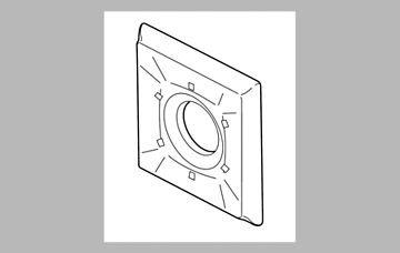 Delta RP52594 Dryden Escutcheon for 6-Setting Diverter, Chrome by DELTA FAUCET