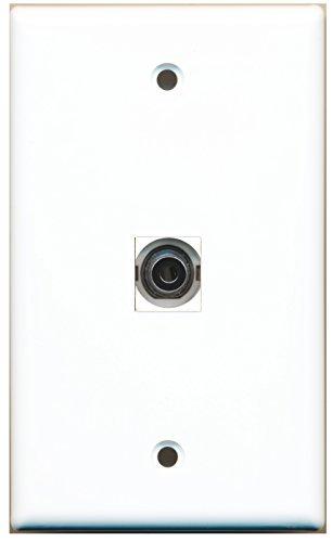 RiteAV 1 3.5mm Audio Wall Plate with Keystone Coupler Type Jack - White