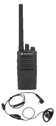 Motorola RMV2080 Two-way Radio with HKLN4599 D-shaped Earpiece