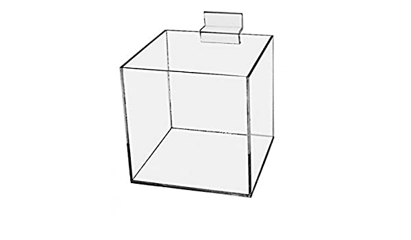 "Acrylic White 10/"" Jewelry Cube Riser Display Box 5 Sided"