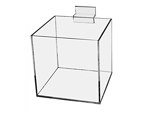 Marketing Holders Slatwall 6'' Jewelry Cube Riser Display Box / 5 Sided Premium Clear Acrylic Qty 4