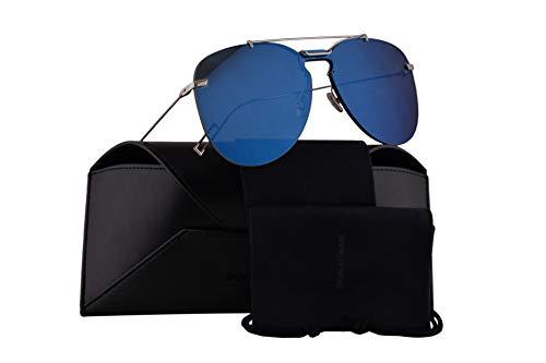 Christian Dior Homme Dior0222S Sunglasses Palladium Blue w/Blue Mirror Lens 99mm DOH2A Dior0222/S Dior 0222/S Dior 0222S