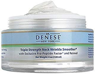Dr. Denese Triple Strength Wrinkle Smoother Neck Cream 4 Oz (120 Ml) Super Size, Intensive Anti-wrinkle