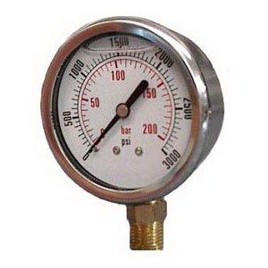 Dynamic CF1P-210A Glycerine Filled Pressure Gauge, 2-1-2'' Dial, 3000 psi