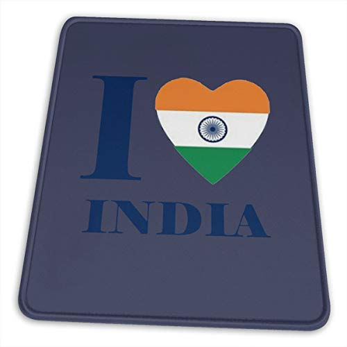 I Love India Heart Flag Laptop Mouse Pad Anti Slip Mouse Pad Gaming Mouse Pad (Best Gaming Laptop Available In India)