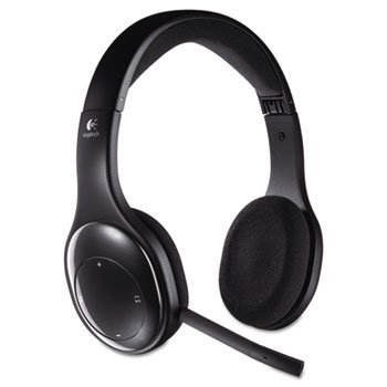 Logitech 981000337 H800 Binaural Over-The-Head Wireless Bluetooth Headset, 4 ft Range, Black