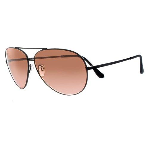 4b10ae5904 Amazon.com  Serengeti 5222 Aviator Sunglass Lg. Aviator Black Frames  Photochromic w Care Kit  Clothing