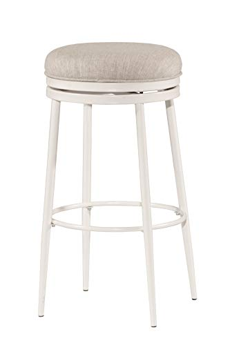 Hillsdale Furniture 4556-832 Aubrie Swivel Backless, White Bar Stool, Height (Stool Bar Round Hillsdale)